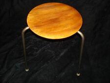 Rare Design Mid Century Modern stand Tripod metal legs Veneer round table top NR
