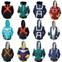 My Boku no Hero Academia Cosplay Kohei Horikoshi Hoodie Gym Sweatshirt Coat Top