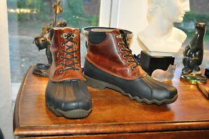 Sperry Top Sider Avenue Duck Boots  Amaretto & Black Leather Gore Tex Men 11 M