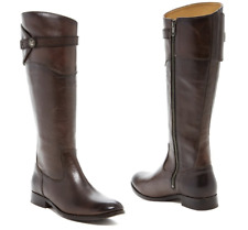 Frye Molly Knee High Leather Riding Boots Dark Grey NEW Boxed Women's 5.5 $398