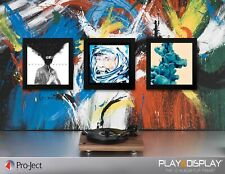 Play & Display Black LP Frame with UV Protection for Vinyl Albums - Triplepack