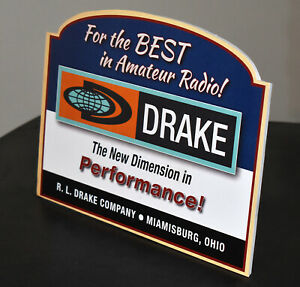 Drake Short Wave Amateur Ham Radio Company stand up ad sign