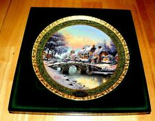 Thomas Kinkade Annual Collector Plate 2005 Cobblestone Christmas 7th Issue