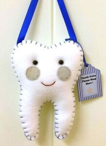 Tooth Fairy Pillow  - Handmade- Pocket on back for lost tooth/money
