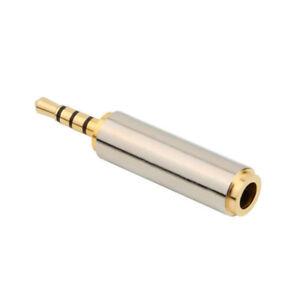 Adaptateur Jack Mâle 2.5mm vers Jack Femelle 3.5mm avec Contacts Dorés