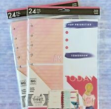 Happy Planner Classic Daily Calendar Filler Paper Encourager Lines And Dot Grid
