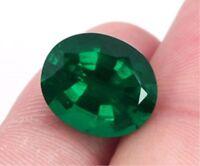 7.33ct Natural Mined Green Emerald Colombia 10x12mm OVAL Cut AAAAA+ Gemstone Hot