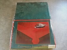 """New Poinsettia Impressions Hunter Bardwil Linens 60"""" x 102"""" Oval Retails $50"""