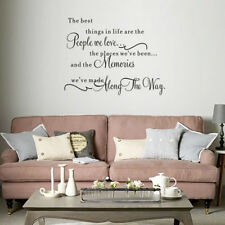 The Best Things In Life ~ Love Memories Wall Quote Home Decal Vinyl Sticker UK