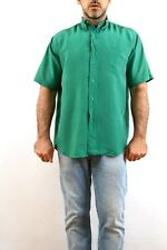 PAUL & SHARK Yatching Vintage 80s 100% Silk  SHIRT 15 3/4 40 L Size VERY GOOD