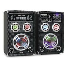 B-stock 400w Active PA Speakers Powered Karaoke Sound System USB SD Mp3 DJ Dis