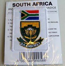 SA SOUTH AFRICA CRICKET 2003 WORLD CUP SOUVENIR PATCH WOVEN CLOTH SEW-ON BADGE