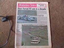 Motoring News 11th August 1977 Misano F2 ETC Zandvoort F3 Snetterton Subaru