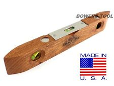 """Grace 9"""" Wooden Torpedo Level Vintage Wood Style Carpenter MADE IN USA"""
