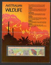 AUSTRALIA-PRESENTACION PACK-AUSTRALIAN WILDLIFE-1987.