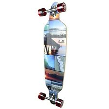 Yocaher Punked Drop Through Seaside Longboard Complete
