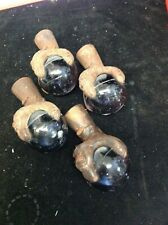 Vintage Antique Victorian Set  4 Cast Iron Claw Face Feet 3 inch Glass Ball
