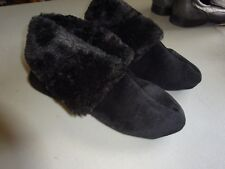 Cozy Charter Club Microvelour Bootie 5-6/SMALL Black Memory Foam Slipper Shoes