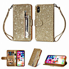 Bling Glitter Wallet Leather Flip Case Cover For iPhone 12 11 XS XR X 8 7 6 Plus