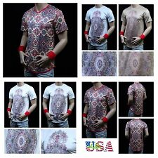 Men's Long T-Shirt Extended Shirt V-Neck Crew Neck Casual Hipster Vintage Unisex