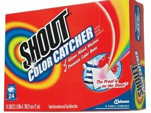 Shout Color Catcher Dye-Trapping In-Wash Cloths 24 Count Box