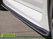 CS Look Carbon Fiber Side Skirts Add On Spoiler Lip fit 2015+ WRX STI SUBARU