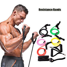 Exercise Fitness Tube Workout Bands ResistanceYoga Pilates Abs Band Set