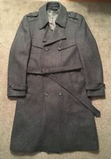 Vintage Mens American Male 100% Pure New Wool Gray Trench Coat