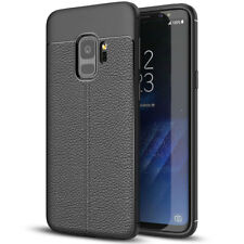 Luxury Rugged Flexible Soft Rubber Black Case Cover For Samsung Galaxy S9