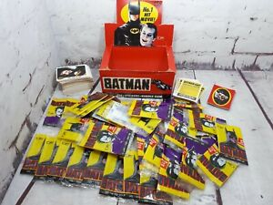 Topps BATMAN Movie Wax Sticker Trading Card Pack (1989) 1 Card Missing