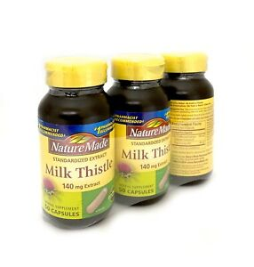 3x Nature Made Milk Thistle 140mg 50ct (Total of 150 ct) Exp 5/2021
