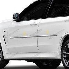 4PC ABS CHROME BODY SIDE MOLDINGS MOLDING TRIM FITS 2013-2017 BMW X5