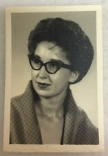 Vintage Antique Black and White Photo ~ Lady with Glasses