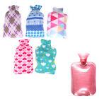 2000Ml hot water bag bottle cover case winter warm relaxing heat cold plush  FJ
