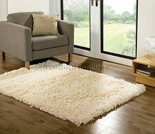 Sumptuous Cream Shaggy Rug Super Soft and Thick 160 X 230 Cm
