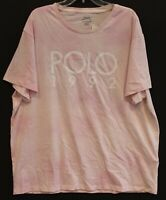 Polo Ralph Lauren Mens Faded Pink POLO 1992 S/S Crewneck T-Shirt NWT 2XL XXL