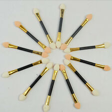 12Pcs Makeup Double-end Eye Shadow Eyeliner Brush Sponge Applicator Tool YG