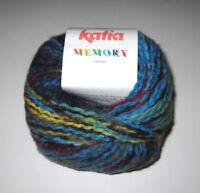 LOT of 10 balls of Blue Green Katia MEMORY CHUNKY knitting yarn color #54