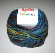 Balls of Blue Green Katia Memory Chunky Knitting Yarn Multi Color #54