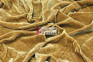 """SILK VELVET SOLID FABRIC 45""""W CLOTHING/DRAPERY/DRESSES 40COLOR BY YARD FREE SHIP"""
