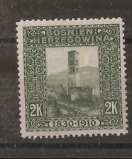 BOSNIA & HERZEGOVINA 1910 2k mh