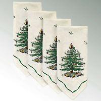Spode Classic Christmas Tree Dinner Napkins Set of 4