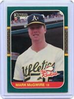 1987 donruss rookies #1 MARK MCGWIRE oakland athletics ROOKIE card