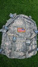 US Army Military Digital ACU 3 Days Assault Back Pack Molle Ruck Sack USGI USED