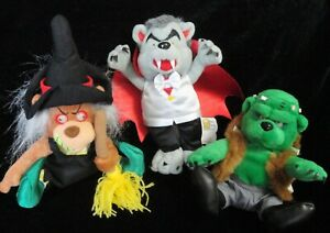 Meanies Grisley Grizzlies Halloween '99  Monster Bears 3 Pc Set LIMITED 10,000