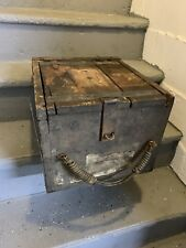 Vintage Wooden Shipping Ammo Box Crate, Latch And Handle
