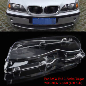For BMW E46 3-series 4 Door 02-05 Left Side Headlight Headlamp Lens Clear Cover