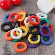 24Pcs Key Cap Tag Sleeve Rings Identifier Plastic Label ID Perfect Coding System