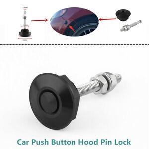 Car Aluminium Latch Mini Push Button Hood Pin Lock Decorate Quick Release Bumper