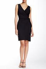Diane von Furstenberg Women's Faux Wrap Dress, Black, D874902T15, Size 8